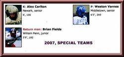 2007, SPECIAL TEAMS