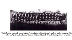 Newark, undefeated, 1950 team