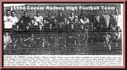 1954 Caesar Rodney football team
