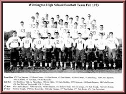 WHS football team, 1953