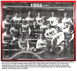 Cherry and white, 1902, WHS team