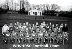WHS 1950 football squad