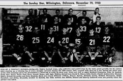 Bridgeville High, undefeated, 1950