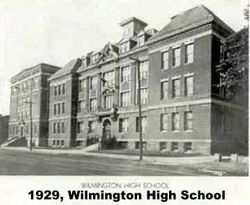 1929, Old WHS on Delaware Ave.
