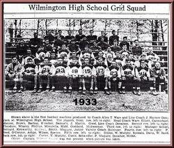 1933, WHS Football Team