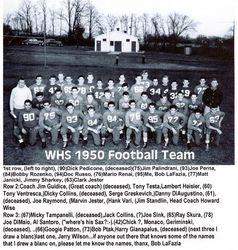 1950, WHS football team