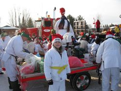 Judo Float entered in X-mas Parade