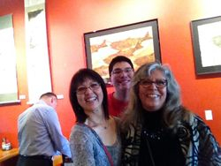 Middle Way Cafe Show June-July 2015 Me, Peter and Linda