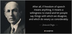 Quote concerning Freedom of Speech