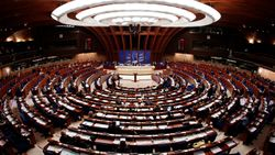 EU Council of Europe Parliamentary Assembly's plenary room