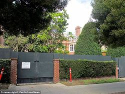 Facebook Zuckerberg home with wall surrounding it