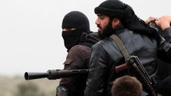 Syria jihad fighters of the Al-Nusra Front fighting against Syrian government