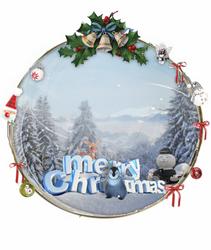 Christmas 2012 animated globe