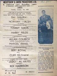 Leeds 1955 Sullivan vs Walsh