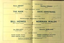 1962 Belfast cards and results