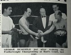 George Busfield wins Mountevans Featherweight title