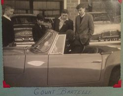 Count Bartelli in his car