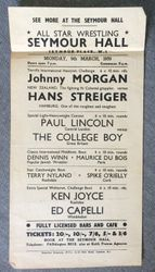 Seymour Hall 1959 card that never was
