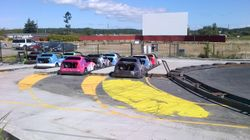 At the Go Cart Track