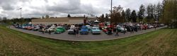 Panorama of the parking lot