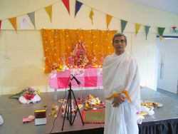 Sourav's uncle - our Pujari at 2014 puja