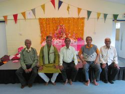The elders at the Puja