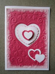 Heart and Petal Die Card