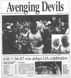 March 13, 1994 Stafford at ASU Game