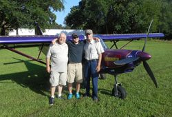 Chapter president, Tom with Logan and Jim.