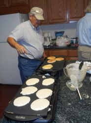 Tom Young on Pancake duty, Thanks!