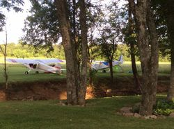 Camping under the wing