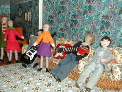 Later on the lads treat Edith, Muriel and Alexie to a special concert...
