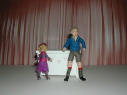 The next on stage - to deafening applause - is Pixie, with her able and willing assistant, Tom!