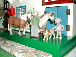 Hope and horses - with Misty and Woody the dog!