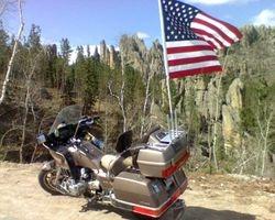 Bull's dad's bike in South Dakota