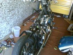Cowboy painting Bad Penny's Bike