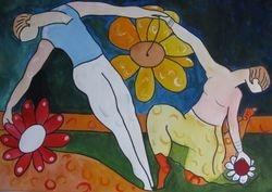 Danse in the flowers