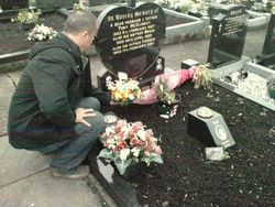 Wreath laying, Tonys grave Armagh 2010