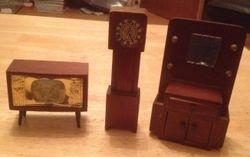 TV,Clock and Dresser