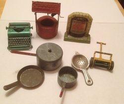 Typewriter,well.fireplace etc