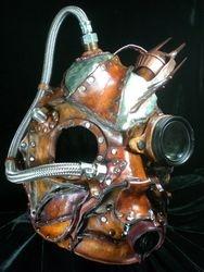 Steampunk Wasteland Warrior Helmet