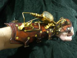 Time Keeper Steampunk Bracer