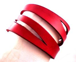 Victorian Style Slashed Red cuff