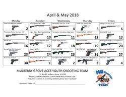 2018 Gun Raffle Calendar