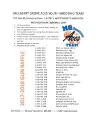 2018 Gun Raffle Listing