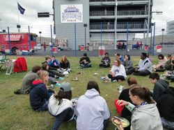 Tailgate party lunch