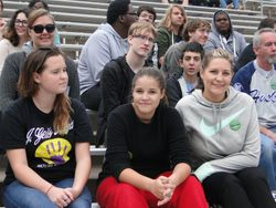 Part of the MHSMB contingent at the game