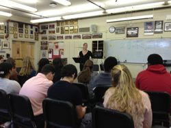 Professor Dionne Jackson teaching