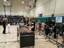 MHS Percussion Ensemble performs @ IMS