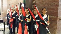 "The colorguard ""on deck"""